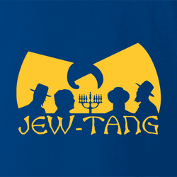 Funny Jewish Israel Humor Jew Tang Clan white t-shirt