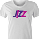 Funny Wizz Air sexy parody Jizz  t-shirt white women's
