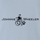 Funny Johnnie walker wheelchair parody light blue t-shirt