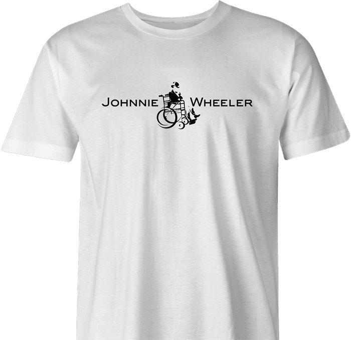 Funny Johnnie walker wheelchair parody ash men's t-shirt