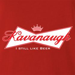 funny Kavanaugh Budweiser and Budweiser Light Beer Parody - Jokers parody men's t-shirt white