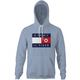 Funny North Korean fashion kimmy il figer tommy hilfiger  light blue hoodie