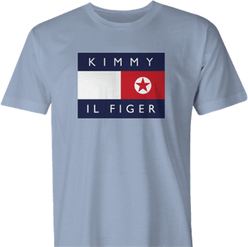 Funny North Korean fashion kimmy il figer tommy hilfiger  men's t-shirt
