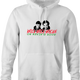 funny Home Alone Knocking On Kevins Door Parody white hoodie