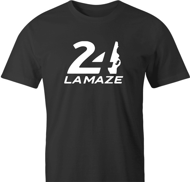 funny Pregnant 24 Hour Lamaze Classes - Le Mans Race Parody men's t-shirt
