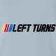 Funny nascar racing left turns only parody black t-shirt