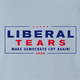 trump pence 2020 Liberal snowflake t-shirt white light blue