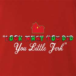 funny Home Alone you little jerk for x-mas and christmas holiday season Parody men's t-shirt white