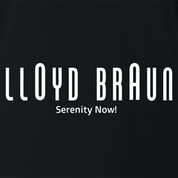 funny Lloyd Braun Serenity Now! men's t-shirt