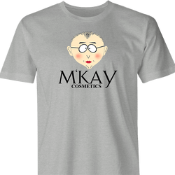 Funny South Park Mr. Mackey M'Kay Cosmetics Parody Mashup Men's T-Shirt