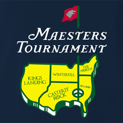funny Game Of Thrones The Masters Golf Tournament t-shirt white