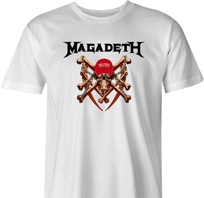 trump megadeth heavy metal MAGA Magadeath men's ash t-shirt