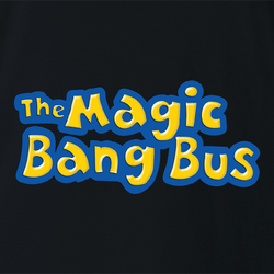 Funny magic bang bus mrs frizzle parody men's t-shirt
