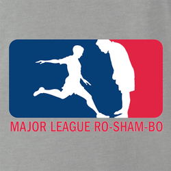 funny Major League Roshambo t-shirt white men's