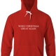 funny Make Christmas Great Again red hoodie