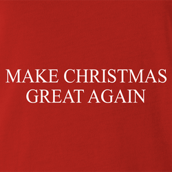 funny Make Christmas Great Again red men's t-shirt