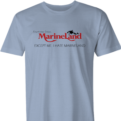 i hate marineland men's light blue t-shirt