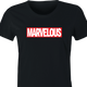 funny Marvel Comic Books Movie - Marvelous Mashup women's black