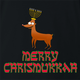 funny Merry Chrismukkah for x-mas and christmas holiday season Parody t-shirt black