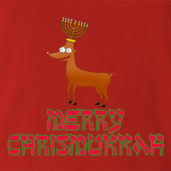 funny Merry Chrismukkah for x-mas and christmas holiday season Parody t-shirt white
