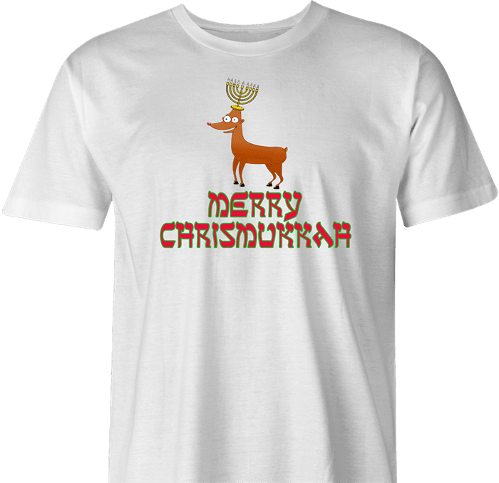 funny Merry Chrismukkah for x-mas and christmas holiday season Parody men's t-shirt white