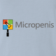 Funny micropenis small microsoft mashup light blue t-shirt