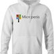Funny micropenis small microsoft mashup white hoodie