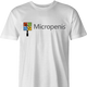Funny micropenis small microsoft mashup men's white t-shirt