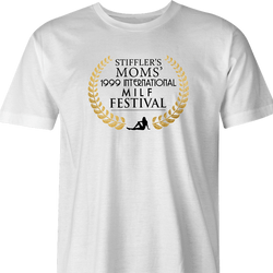 funny milf festival stiffler's mom film parody t-shirt men's white