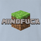 Minecraft Mindfuck Parody t-shirt light blue