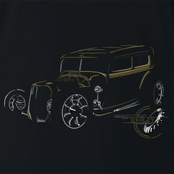 The Offical Rad Rides by Troy | Ford Model A | Men's T-Shirt | Cool Cars