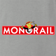 funny The Simpsons Lyle Lanley Monorail Monopoly mash-up ash grey t-shirt