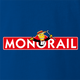 funny The Simpsons Lyle Lanley Monorail Monopoly mash-up royal Blue t-shirt
