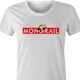 funny The Simpsons Lyle Lanley Monorail Monopoly mash-up white women's t-shirt