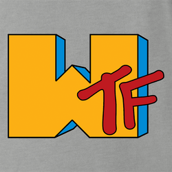 funny WTF MTV Old School Parody white men's t-shirt