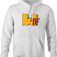 funny WTF MTV Old School Parody white hoodie