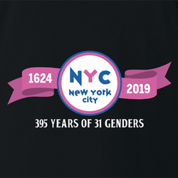 nyc baskin robbins 31 genders white t-shirt