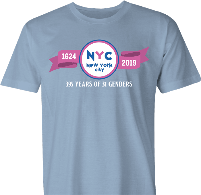 nyc baskin robbins 31 genders men's light blue t-shirt