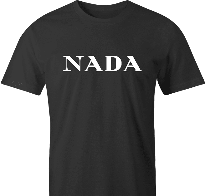 funny Nada, Nothing, Zip, Zilch, Zero, Nil High Fashion Parody Parody men's t-shirt