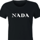 funny Nada, Nothing, Zip, Zilch, Zero, Nil High Fashion Parody Parody women's black