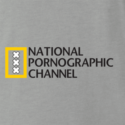 National Geographic Pornogrphy Channel Parody men's t-shirt white