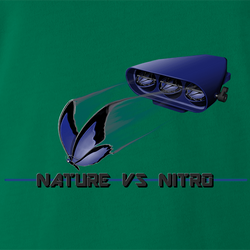 funny Nature Vs Nitro T-Shirt By Jared Zimmerman white men's t-shirt