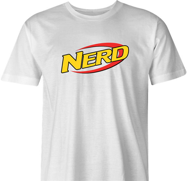 funny Nerdy Nerf Mashup For Geeks And Nerds white men's t-shirt