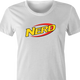 funny Nerdy Nerf Mashup For Geeks And Nerds white women's t-shirt