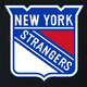funny NHL Team Parody - New York Rangers Strangers black t-shirt