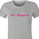 funny T-Mobile No Reception Parody t-shirt women's Ash Grey