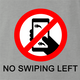 funny don't swipe left ash grey t-shirt