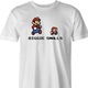 Funny super mario biggie smalls parody Men's T-shirt white