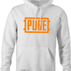 Pube PUBG multiplayer parody gaming white hoodie