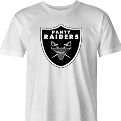 Oakland Las Vegas Raiders Panty Thief Parody whihte t-shirt men's